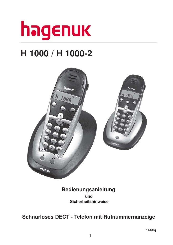 H 1000 / H 1000-2                   Bedienungsanleitung                         und                  Sicherheitshinweise  ...