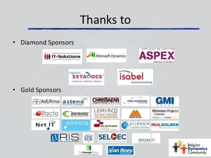 Thanks to• Diamond Sponsors• Gold Sponsors