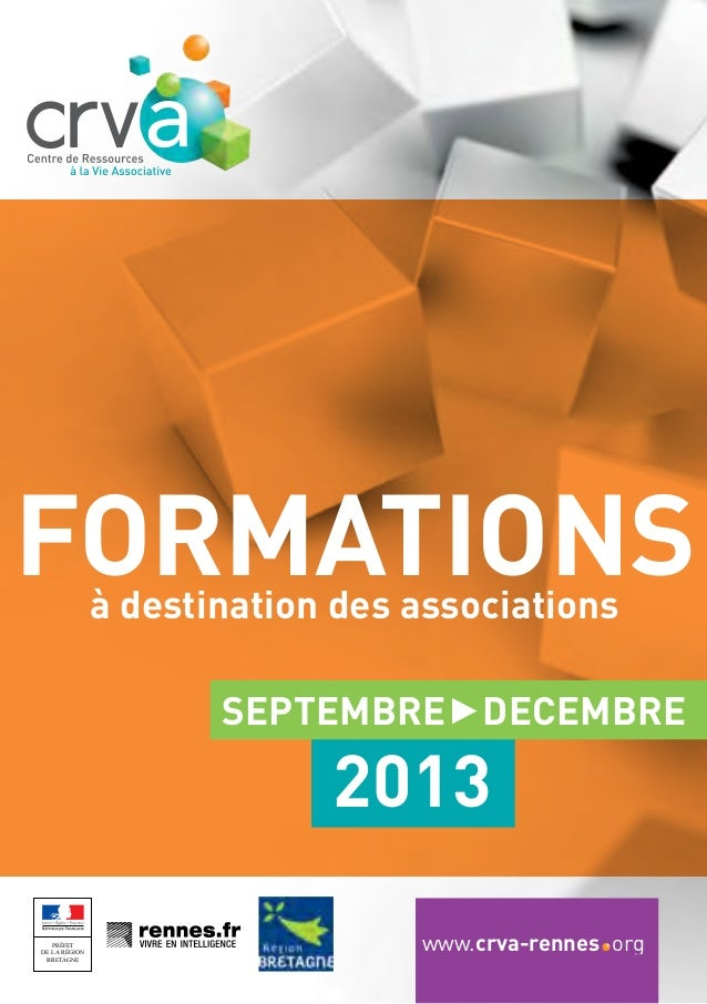 formations à destination des associations  SEPTEMBRE DECEMBRE  2013 PRÉFET PRÉFET DE LA RÉGION RÉGION BRETAGNE BRETAGNE  w...