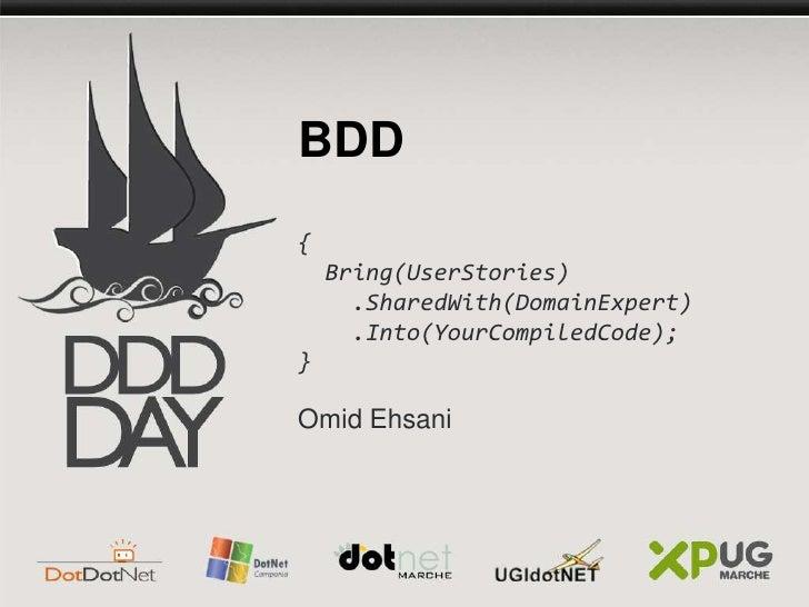 BDD in DDD