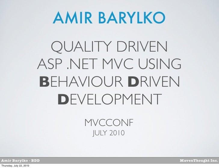 mvcconf-bdd-quality-driven