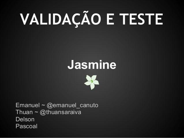 BDD & Jasmine Framework