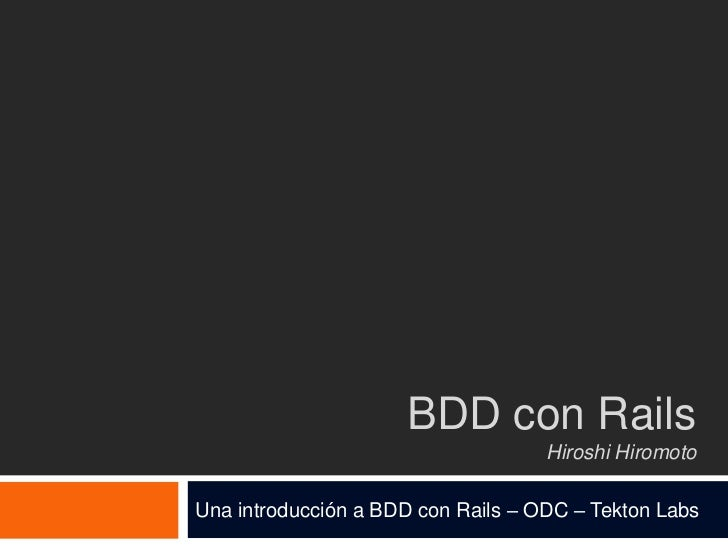 BDD with rails, cucumber and rspec