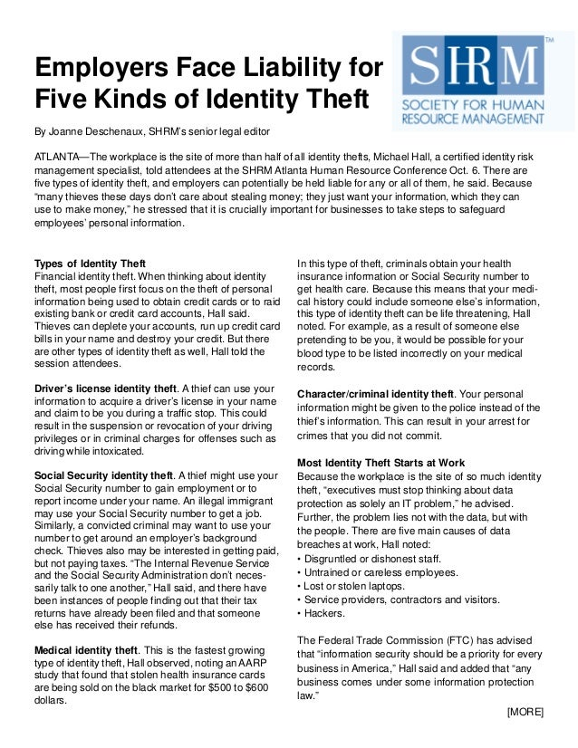 identity theft exaggerated risk or real threat essay Identity theft is a crime in which an imposter obtains key pieces of personal information, such as social security identification numbers, driver's license numbers, or credit card numbers, to impersonate someone else the information may be used to obtain credit, merchandise, or service in the name of the victim or provide the thief with false.