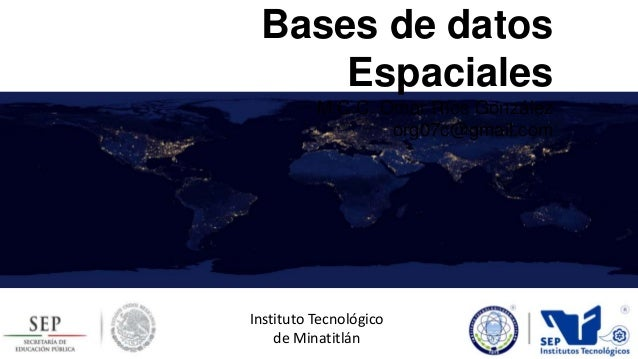 Base de datos espacial