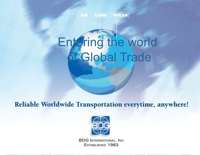 Entering the world of Global Trade