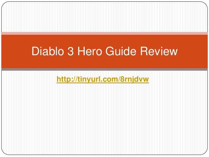 Diablo 3 Hero Guide Review - Is this the best Diablo 3 strategy guide?