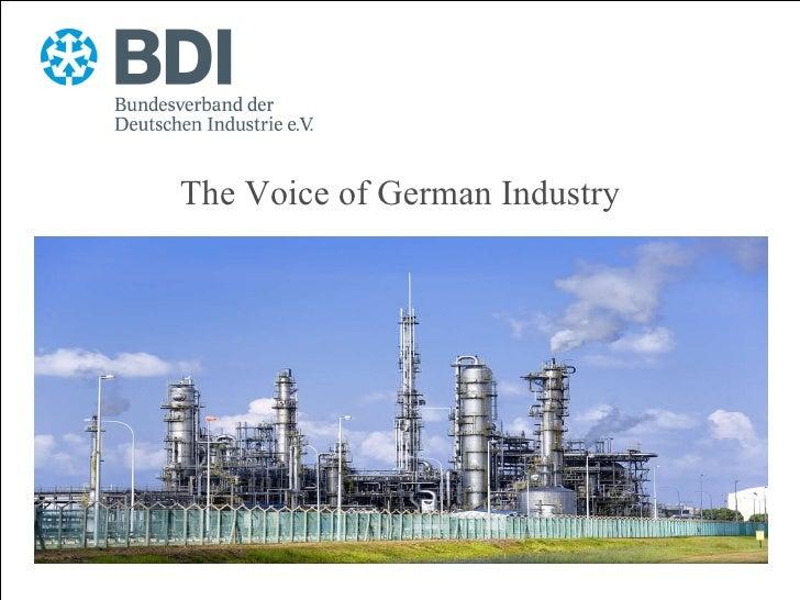 BDI - Bundesverband der Deutschen Industrie e. V. (Deutsche Präsentation)
