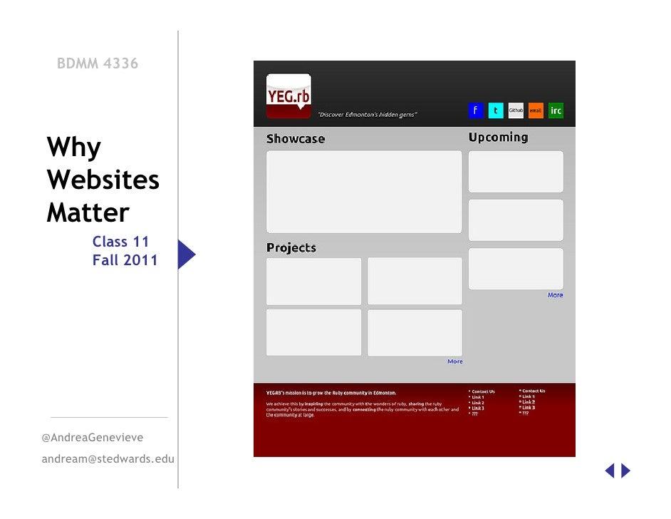 BDMM Class 11 Why Websites Matter