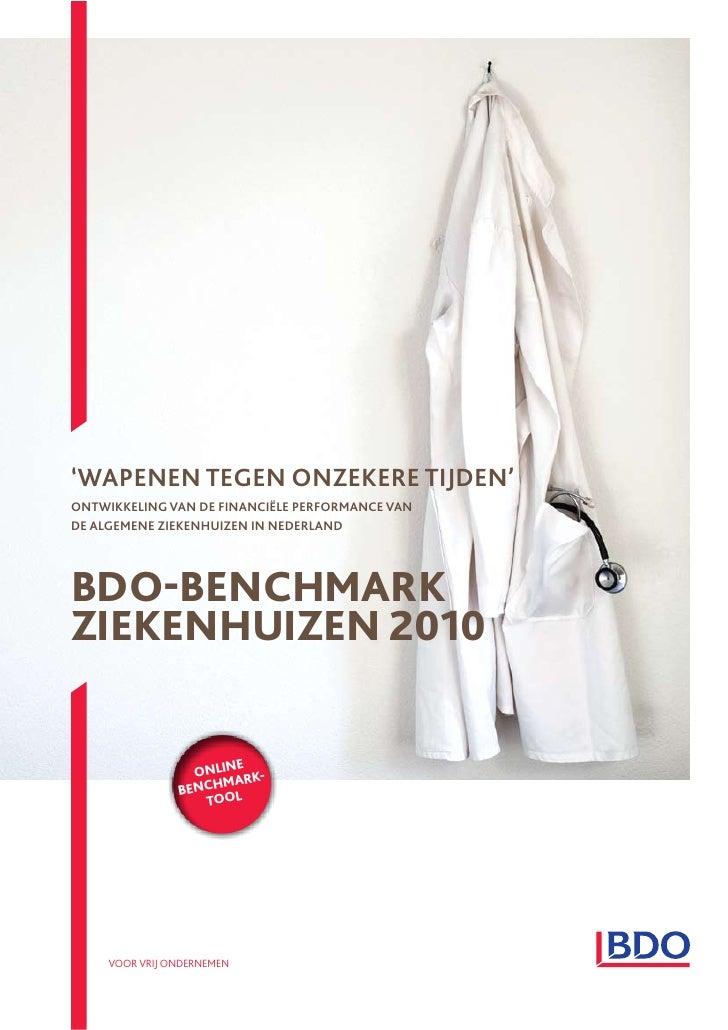 Bdo benchmark ziekenhuizen 2010