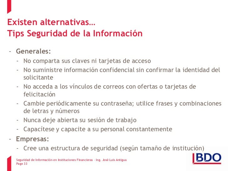 Tips Seguridad Tips Seguridad de la