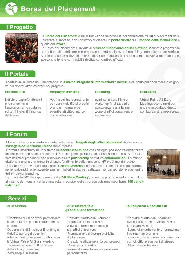 Borsa del Placement 2013