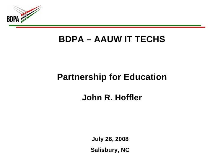 BDPA Charlotte: Education Partnerships