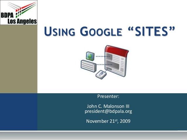 BDPA LA: Google Sites