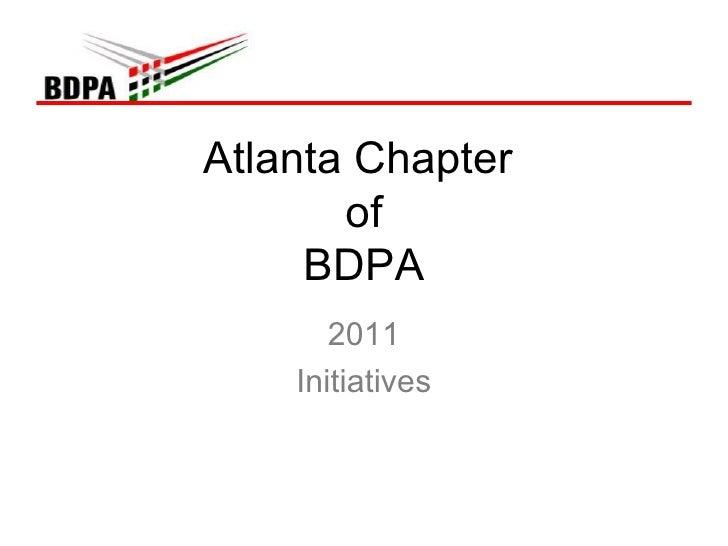 Atlanta Chapter  of BDPA 2011 Initiatives