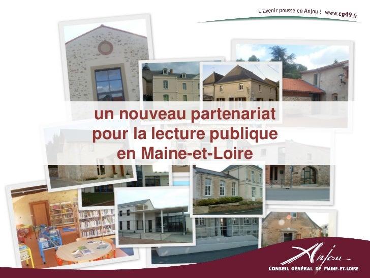 un nouveau partenariatpour la lecture publique   en Maine-et-Loire