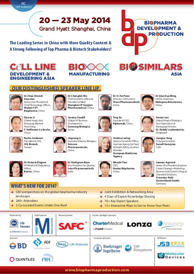 www.biopharmaproduction.com BIOBIO MANUFACTURING BIOC LL LINEC LL LINEC LL LINE DEVELOPMENT & ENGINEERING ASIA SIMILARSSIM...