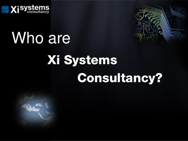 Xi Systems Consultancy Slide Deck