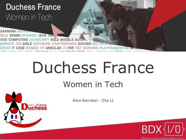 Duchess France Women in Tech Alice Barralon - Zhe LI
