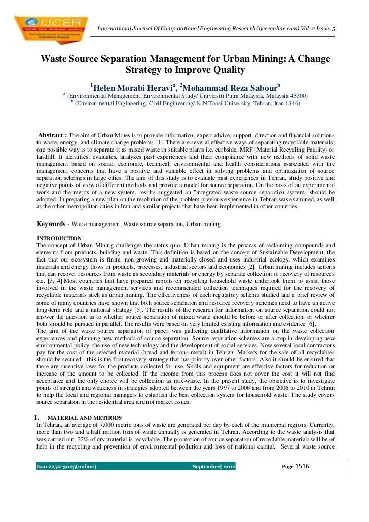 International Journal Of Computational Engineering Research (ijceronline.com) Vol. 2 Issue. 5     Waste Source Separation ...