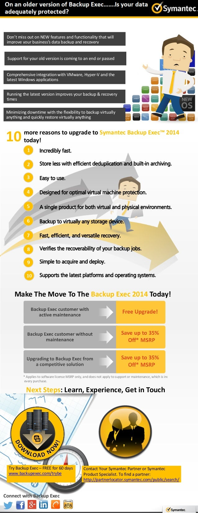 INFOGRAPHIC: On an older version of #BackupExec...?  Is your data adequately protected?