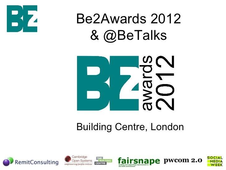 Be2 awards Event Slides