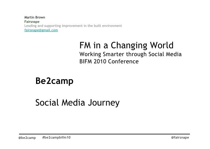 FM in a changing World. Working Smarter through Social Media