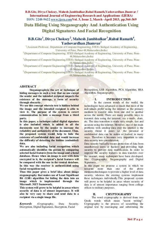 B.B.Gite, Divya Choksey, Mahesh Jambhulkar,Rahul Ramath,Yashovardhan Jhamvar /        International Journal of Engineering...