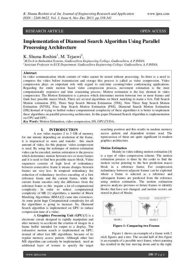 K. Shuma Roshini et al Int. Journal of Engineering Research and Application ISSN : 2248-9622, Vol. 3, Issue 6, Nov-Dec 201...