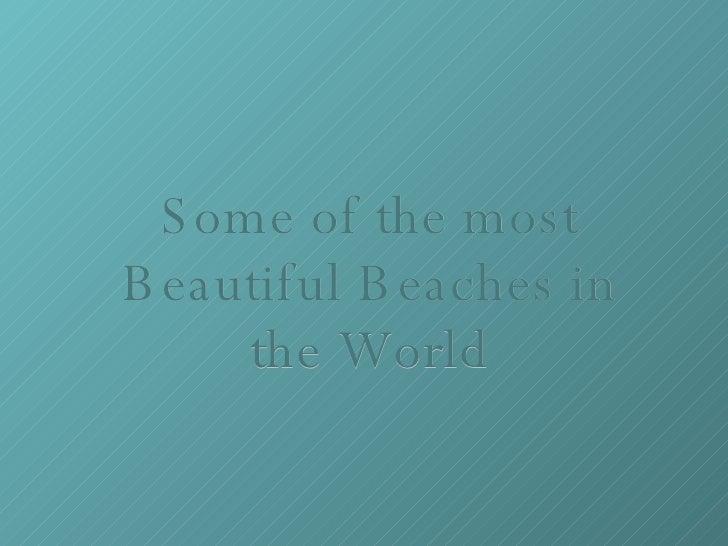 Top Playas Mundiales