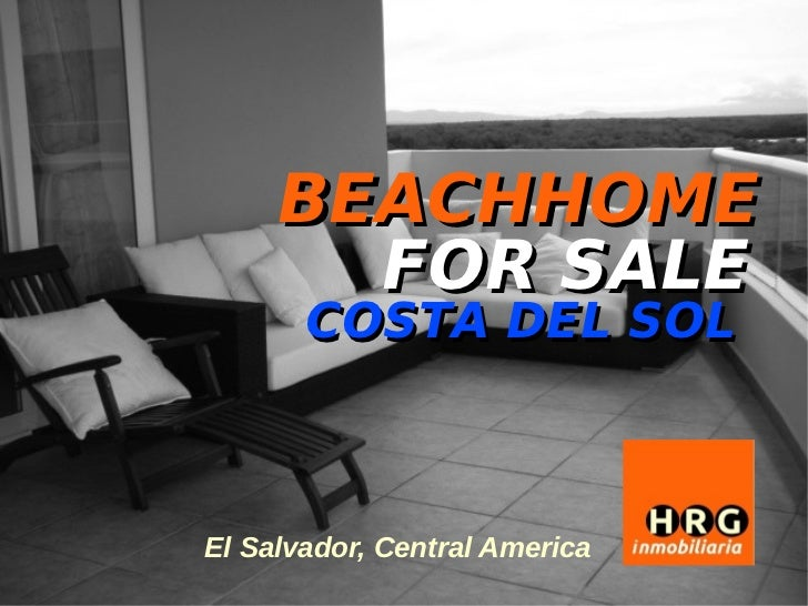 BEACHHOME      FOR SALE       COSTA DEL SOLEl Salvador, Central America