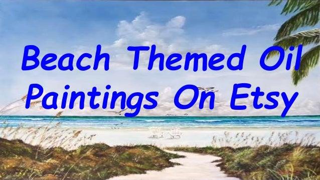 beach themed oil paintings on etsy