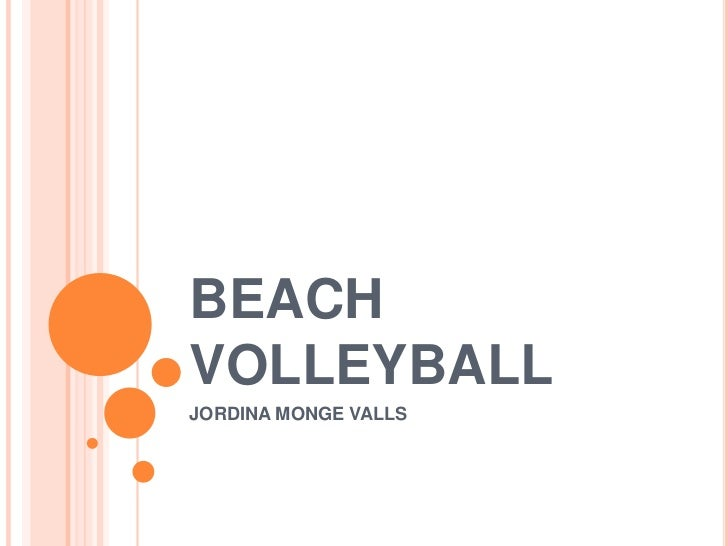 BEACHVOLLEYBALLJORDINA MONGE VALLS