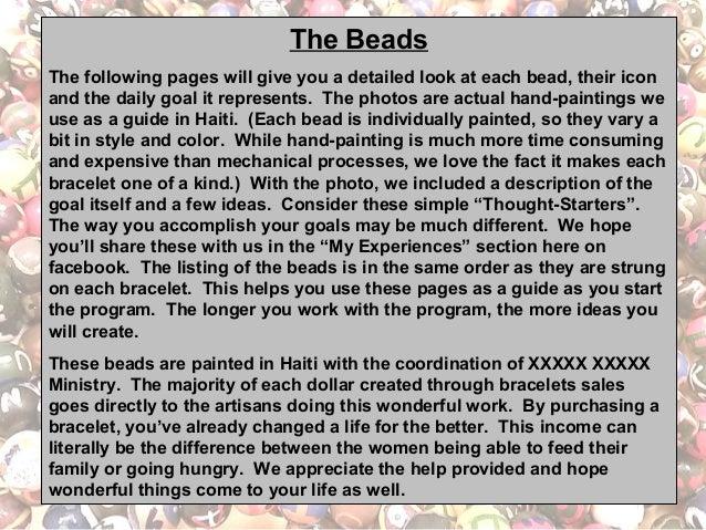 Better Life Beads Bracelet and Bead Detail