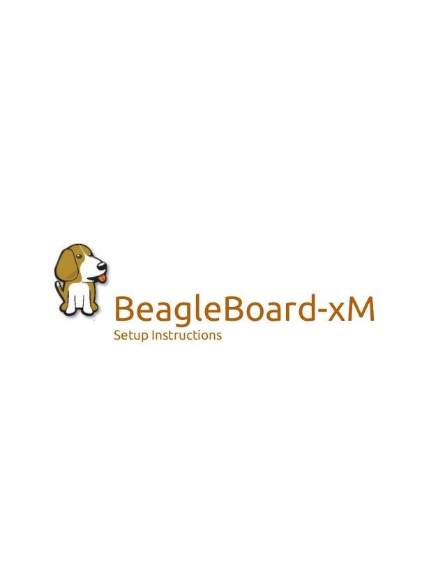 BeagleBoard-xM Setup Instructions