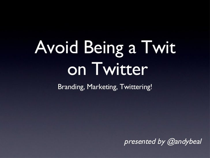 Twitter Tips for Marketers
