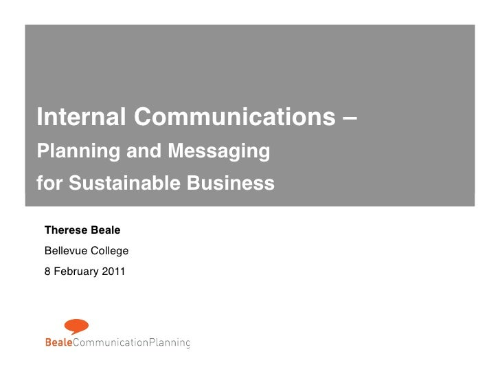 Beale CP Sustainable Business Communication Planning 022011
