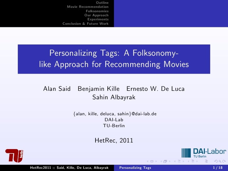 Personalizing Tags: A Folksonomy-like Approach for Recommending Movies