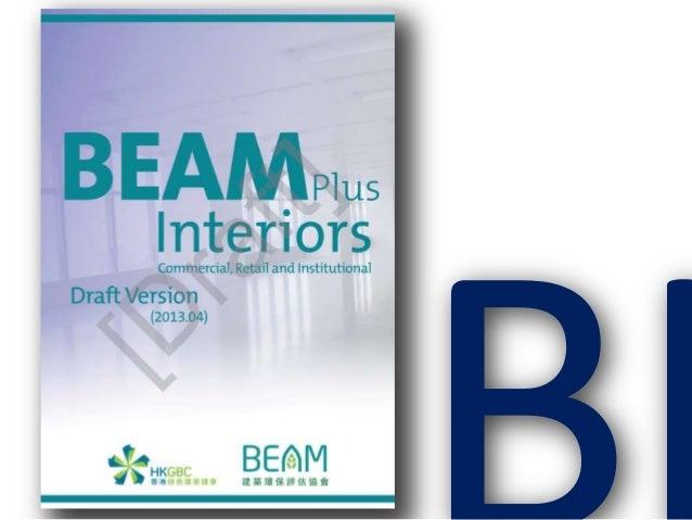 Hong Kong BEAM Interiors green office rating tool 2013