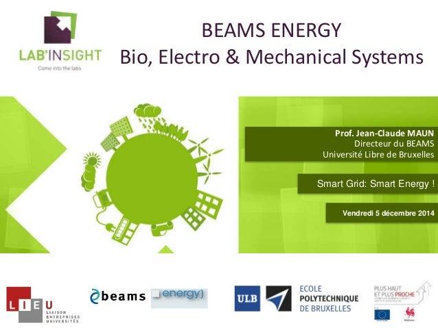 BEAMS ENERGY  Bio, Electro & Mechanical Systems  Prof. Jean-Claude MAUN  Directeur du BEAMS  Université Libre de Bruxelles...