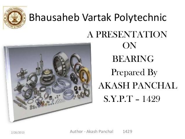 Bhausaheb Vartak Polytechnic                            A PRESENTATION                                    ON              ...