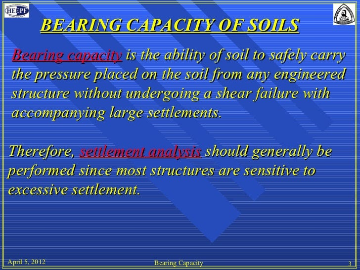 Bearing Capacity of Soils
