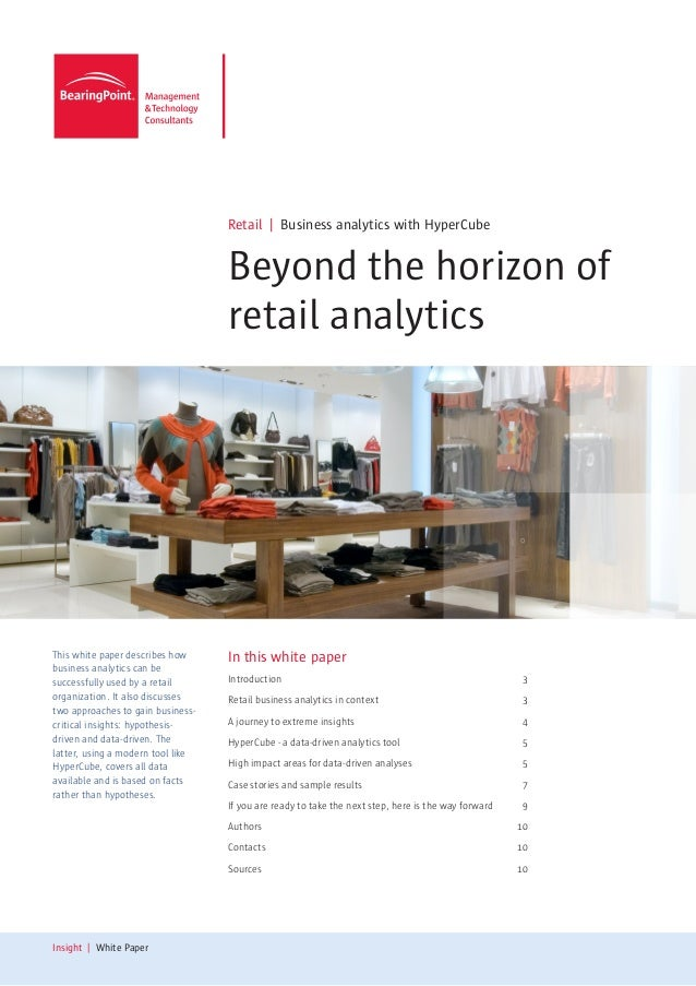 Retail | Business analytics with HyperCube                                   Beyond the horizon of                        ...