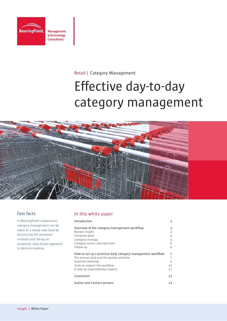 Effective day-to-day category management by BearingPoint