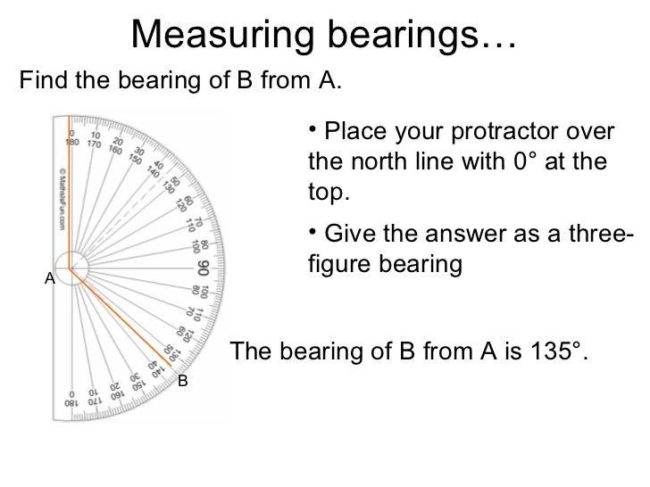 Free Worksheets protractor worksheet : Bearings lesson