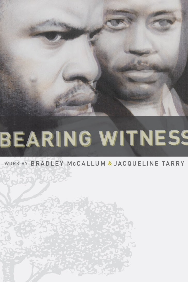 """Bearing Witness"" catalogue"