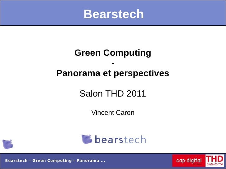 Bearstech                        Green Computing                                -                     Panorama et perspect...