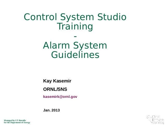 Beast alarm guideline_2013