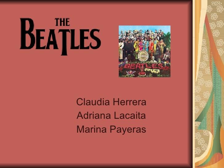 Claudia Herrera Adriana Lacaita Marina Payeras