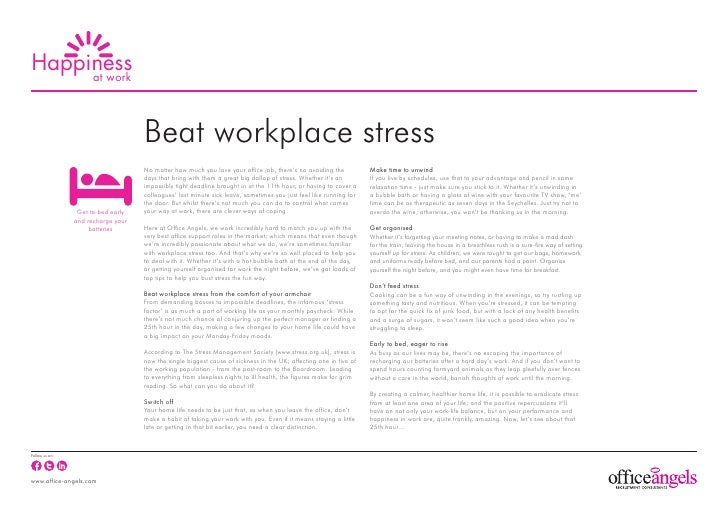Beat workplace stress